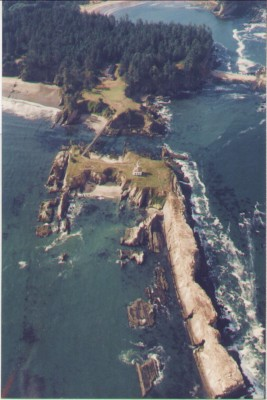 Aerial View of Cape Arago Light