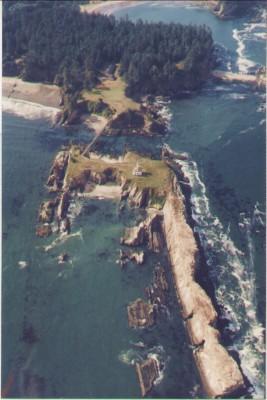 Aerial View of Cape Arago Light